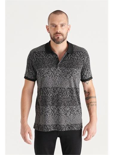 Avva A11Y1198 Polo Yaka Jakarlı Slim Fit T-Shirt A11Y1198 Siyah